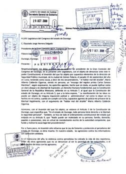 Photo of Mario Calderón Cigarroa denunciado en el Congreso de Durango